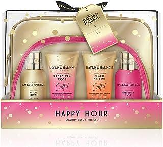 Baylis & Harding Cocktail Hour Bag Set, Peach Bellini and Raspberry Rose