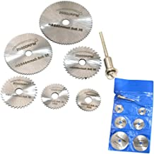 QST New Portable 6pcs HSS Rotary Tool Circular Saw Blades Cutting Discs Mandrel For Dremel Cutoff With Connecting Rod