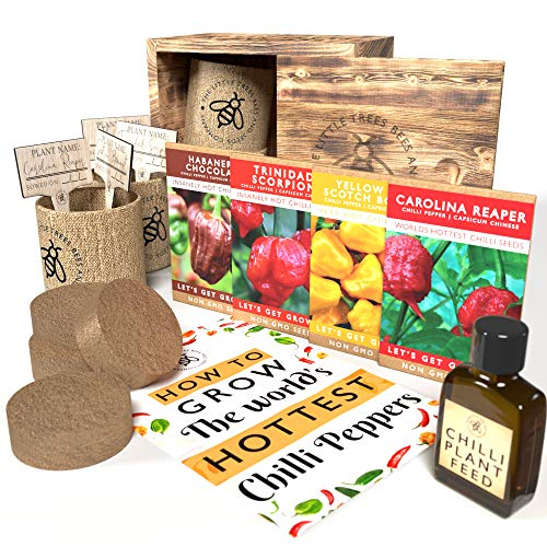 Grow Your Own Chilli Kits, The Worlds Hottest Chilli Seeds Starter Kit,...