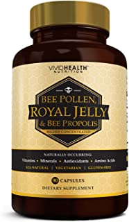 Immune Boosting Vitamin B Complex: Royal Jelly, Bee Propolis & Pollen, 90 Caps