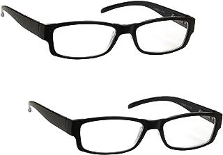 La Compañía Gafas De Lectura Negro Ligero Cómodo Pack 2 Diseñador del Estilo Hombres Mujeres UVR2PK032 Dioptria +1,00