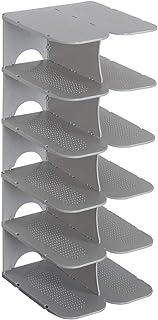 Htipdfg Casiers à Chaussures DIY Assemblée 6 Couches Stackable Chaussure Chaussure Chaussure Chaussure Chaussure Stand Spa...
