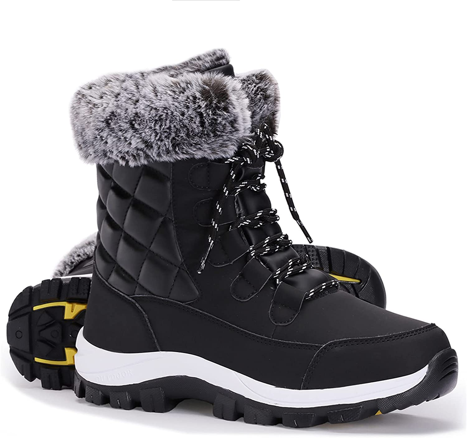 Women's Snow Boot With Waterproof Mid-Calf Minneapolis Mall Up Lace Outdoor Ranking TOP11
