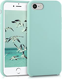 kwmobile Funda Compatible con Apple iPhone 7/8 / SE (2020) - Carcasa de TPU para móvil - Cover Trasero en Menta