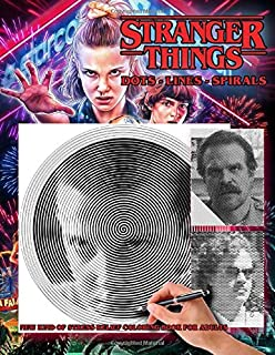 Stranger Things - Dots Lines Spirals Coloring Book: New kind