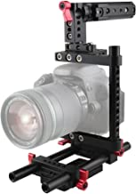 CAMVATE Camera Cage Rig Top Handle Tripod Mount Plate for Canon Nikon Sony Panasonnic(Red)