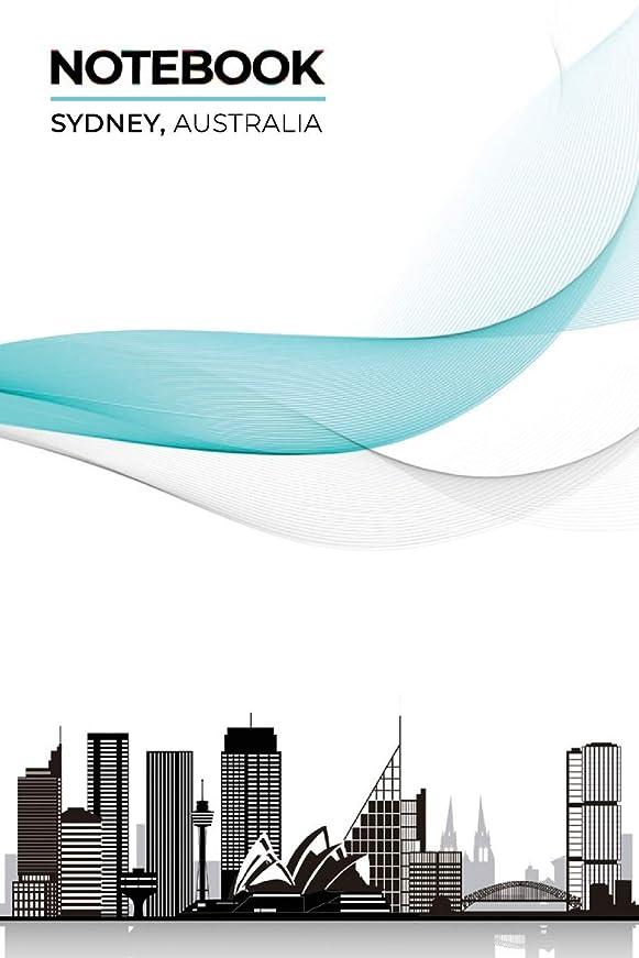 オゾン早い微妙Notebook Sydney, Australia: ~ Lined Ruled with Notes Section Box Modern City Skyline Themed Notebooks and Journals V2