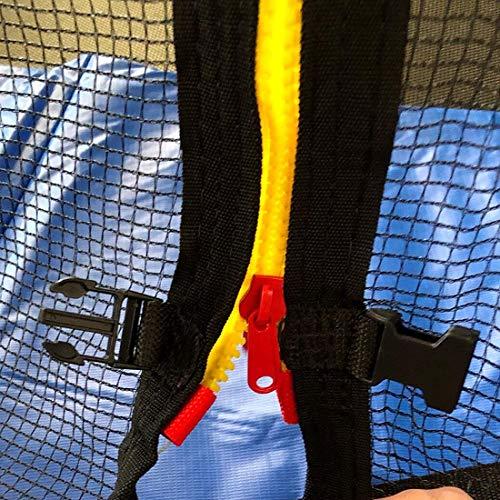 MeTikTok Red de Recambio para Cama elástica Ø 140 183 244 305 366 488cm Adecuado para 6/8 Postes, Red de trampolín antidesgarro, Red de Repuesto para trampolín para niños al Aire Libre,244cm 6 Poles