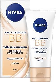 NIVEA 82333 Färgad Dagkräm för Ljusa Hudtyper, 5-i-1 BB Cream, 50 ml