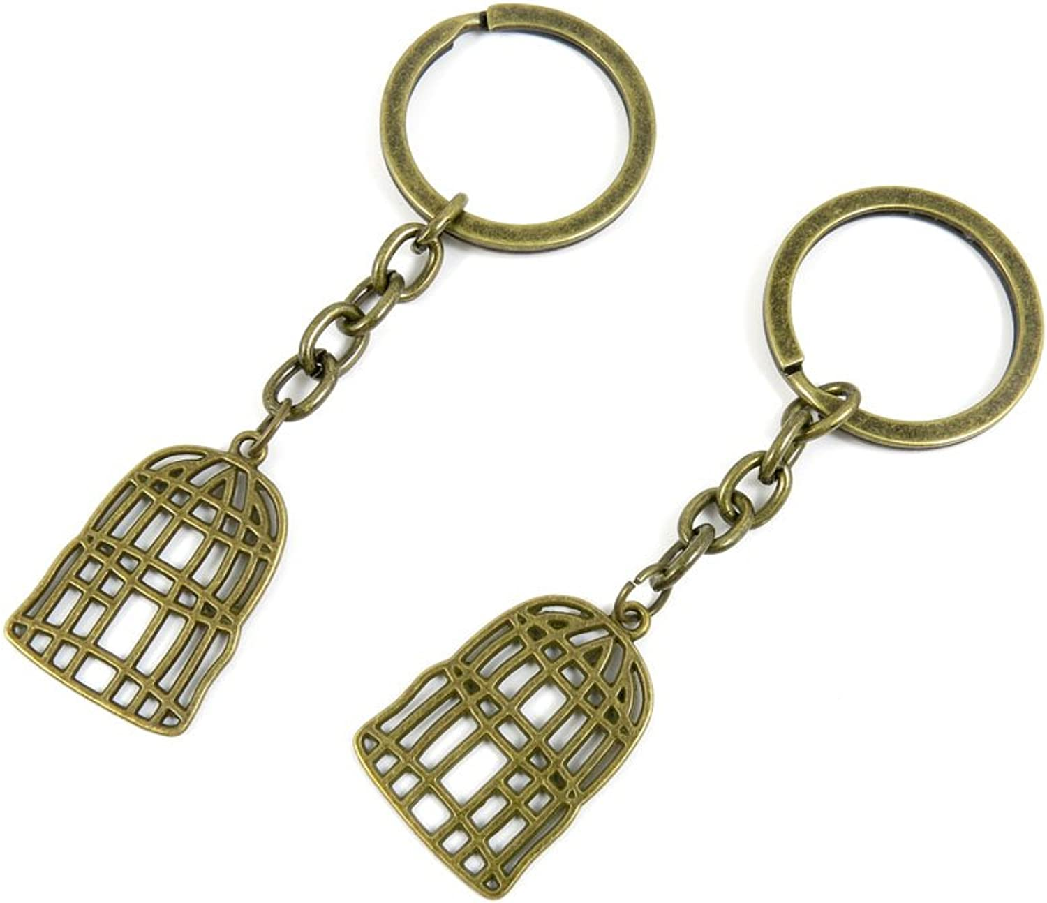 150 Pieces Fashion Jewelry Keyring Keychain Door Car Key Tag Ring Chain Supplier Supply Wholesale Bulk Lots C6LN1 Bird Cage Birdcage