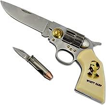Wyatt Earp Legends of the West Gun Knife - 2 7/8