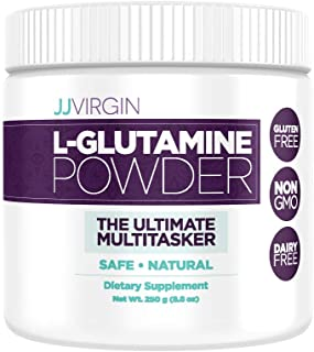 JJ Virgin L-Glutamine Powder Amino Acid Supplement - Supports Digestive & Immune Health, Promotes Healthy Weight Management - Gluten Free & Non-GMO (83 Servings, 250 Grams)