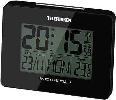 TELEFUNKEN FUD-40 Radio Despertador con Pantalla LCD, plástico, 10 x 3,5 x 7,5 cm, plástico, Negro, 10 x 3.5 x 7.5 cm