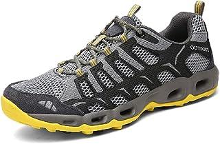 Scarpe da Trekking Uomo Donna Arrampicata Sportive All'aperto Escursionismo Sneakers Low-Top Giallo Grigio Blue 35-44 EU