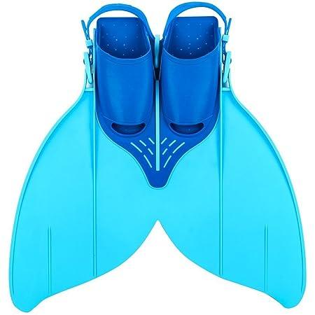 IVYSHION Palmes de Natation pour Enfants Palmes de Queue de sir/ène Palmes de Snorkel Freestyle Papillon Backstroke Dauphin Kick Natation /équipement Professionnel de Formation