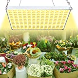 Lámpara para plantas Yasbed 75 W, espectro completo, luz de crecimiento para plantas de interior, luz para plantas de 3500 K parecida al sol, para semillas, que crece, florece y lleva frutas,
