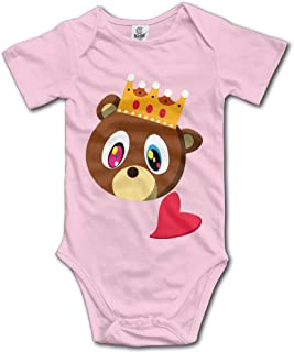 Sngogoing Baby Kanye West Bear Short Sleeve Romper Climbing Clothes