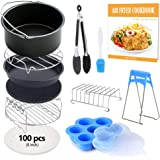 FDA 8 inch XL Air Fryer Accessories 11 pcs with Recipe Cookbook Compatible for Gowise USA COSORI Airfryer XL 5.3QT – 5.8QT