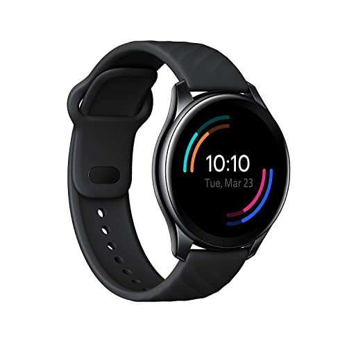 OnePlus Watch Midnight Black: 46mm dial, Warp Charge, 110+ Workout Modes, Smartphone Free Music,SPO2 Health Monitoring & 5ATM + IP68 Water Resistance (Currently Android only)