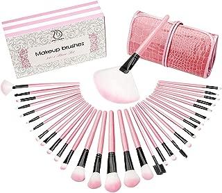 Professional Makeup Brushes START MAKERS 32 PCS Makeup Brush Set Cosmetics With Travel Leather Organizer Makeup Sponge and Luxury Box