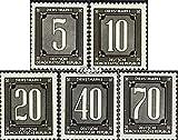 Prophila Collection DDR DB1ND-DB5ND (kompl.Ausg.) Neudruck 1956 Dienstmarken für Verwaltungspost (Briefmarken für Sammler)