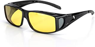 Night Vision Glasses for Driving with Polarized Anti Glare HD Clear Sight Lens Wrap Around Over Prescription Glasses Unisex