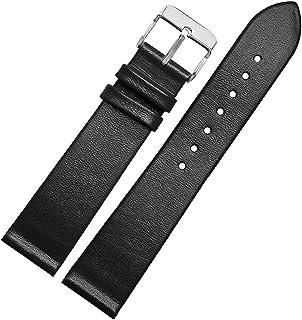 男性の女性のための贅沢な19ミリメートル黒革時計バンドの交換スポーツカーフスキン時計ストラップ時計ベルト