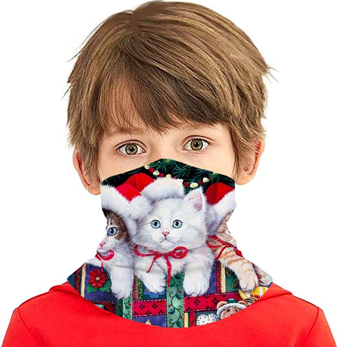 Dujiea Kids Outlet sale feature Bandanas Face Sale Mask Funny Christmas Dust UV Cat Sun