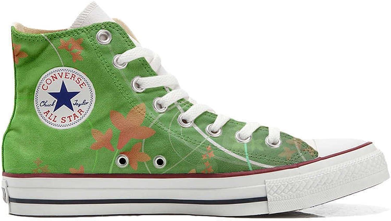 schuhe Custom Converse All All All Star, personalisierte Schuhe (Handwerk Produkt) Grün Fantasy  ad99a7