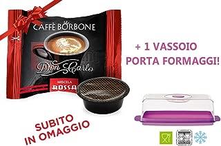600 Capsule Compatibil Lavazza a Modo Mio Caffe' Borbone Don Carlo Miscela Rossa + OMAGGIO 1 VASSOIO PORTAFORMAGGI