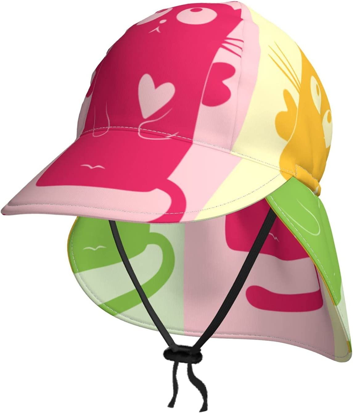 Tricolor Cat Kids UPF 50+ Sun Cheap super special price Hat Summer Baby I New sales Beach Bucket