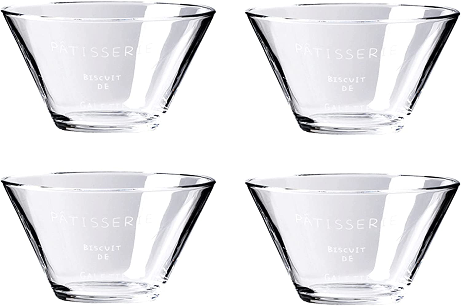Glass Salad Bowls Set of Serving Popular brand in the world 4 for Mixing Detroit Mall Clear