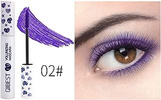 Color Mascara Onkessy Waterproof Long-lasting 7 Color of Length Volume Fiber Mascara Perfect Gift for Girls