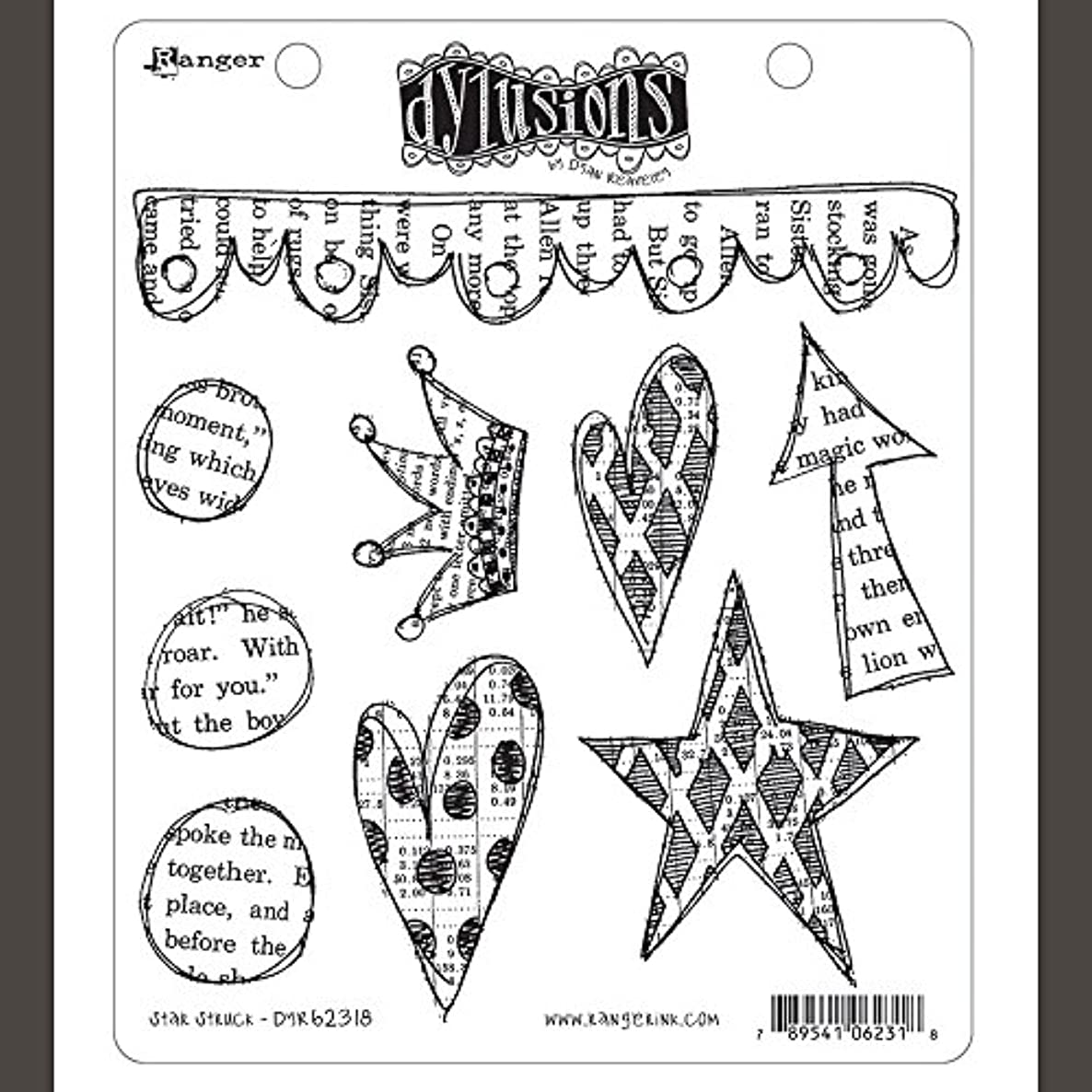 Ranger DYR62318 Dyan Reaveley's Dylusions Cling Stamp Collections 8.5