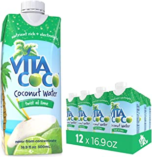 Vita Coco Coconut Water, Twist of Lime - Naturally Hydrating Electrolyte Drink - Smart Alternative