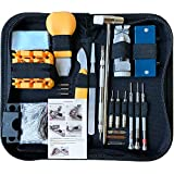 HAOBAIMEI 168 PCS Watch Repair Tool Kit, Case Opener Spring Bar Watch Band Link Tool Set With Carrying Bag, Replace Watch Battery Helper Multifunctional Tools With User Manual For Beginner
