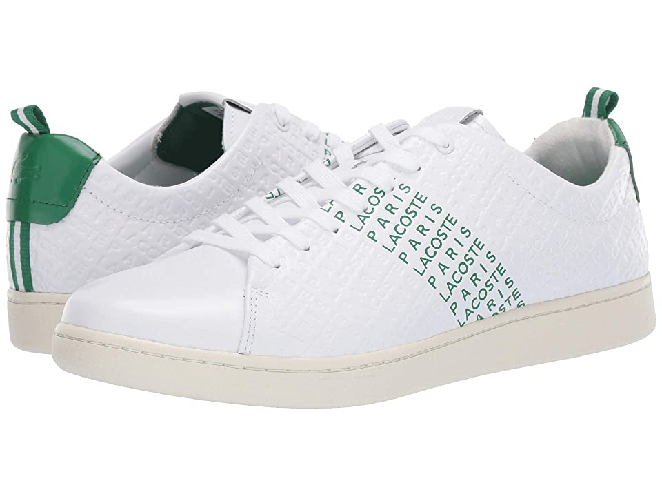 Lacoste Carnaby Evo 119 9 US (White/Green) Men