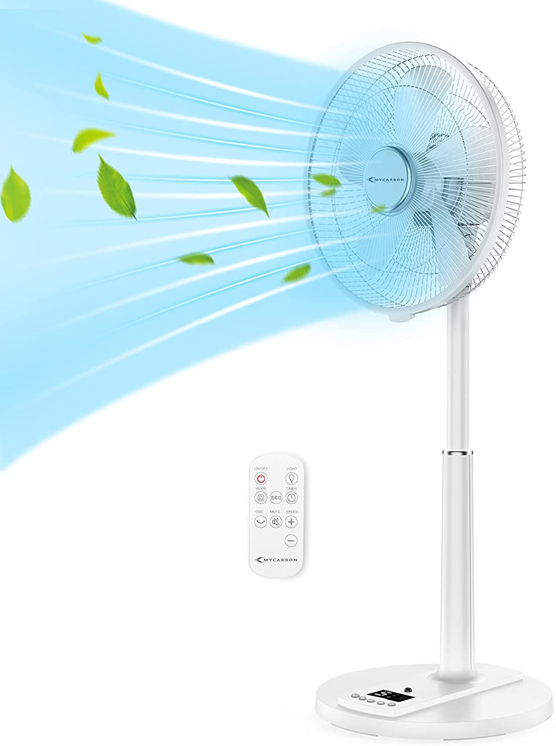 """16"""" Pedestal Fan Ranking TOP13 with Remote Ultra Quiet Oscillating S Choice MYCARBON"""