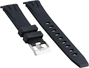 22MM RUBBER WATCH BAND STRAP FOR 45.5MM OMEGA SEAMASTER PLANET OCEAN XL BLACK