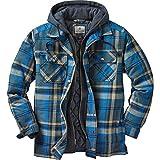 Legendary Whitetails Men's Maplewood Hooded Shirt Jacket Slate Hatchet Plaid 3XLT, slate hatchet blue plaid