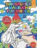 Dinosaurier Malbuch für Kinder: Dinosaurier Buch - Inklusive Übungen für die Vorschule, Buchstaben und Zahlen Schreiben Lernen, Schwüngübungen, Geschenk für Jungen und Mädchen