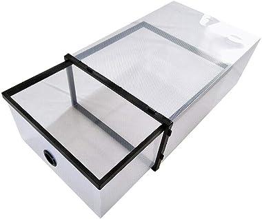 Jasemy 20-TLG Boîte de rangement en plastique durable pour chaussures empilables avec porte transparente