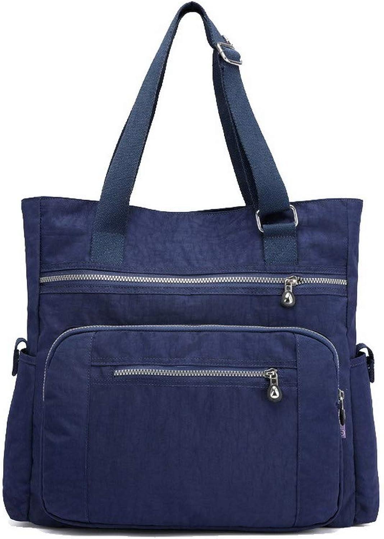 AllhqFashion Women's Shopping Nylon Bags Zippers Casual Shoulder Bags,FBUBC207649