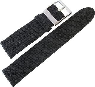 Palma Pacific 22mm Black Perlon Watch Strap