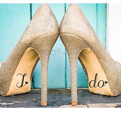 Ymot101 - Calcomanía de vinilo para zapatos de boda, diseño con texto en inglés