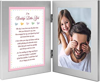 Poetry Gifts Daddy's Little Girl Sweet Gift from His Daughter, Add 4x6 Inch Photo to Double Frame
