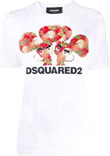 DSQUARED2 Luxury Fashion Womens S75GD0079S22427100 White T-Shirt |
