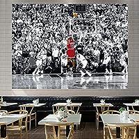 カラープリントバスケットボールタペストリー、バスケットボールスターファンホームデコレーションウォールデコール/ベッドルーム(59×78.7インチ) 10