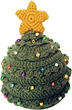 Jeash Women's Fashion Winter Infant Christmas Crochet Knit Stars Jingle Bell Hat Hairball Cap