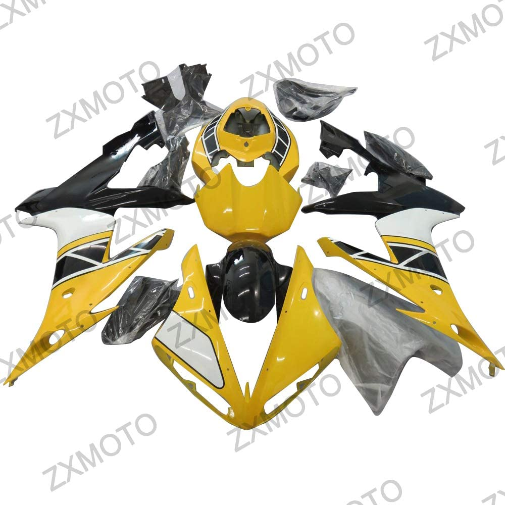 ZXMOTO Year-end annual account Painted Yellow Decals Fairing Kit 2004 Yamaha [Alternative dealer] YZF for R1